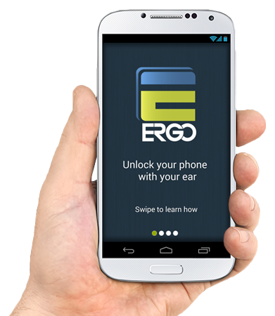 ergo ear biometric app unlock your phone with your ear. Black Bedroom Furniture Sets. Home Design Ideas