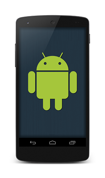 Android icon on smartphone screen
