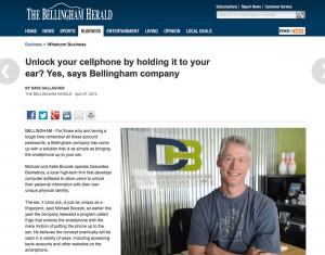 Bellingham Herald Descartes Biometrics story