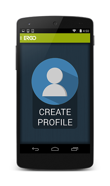Create ERGO profile screenshot