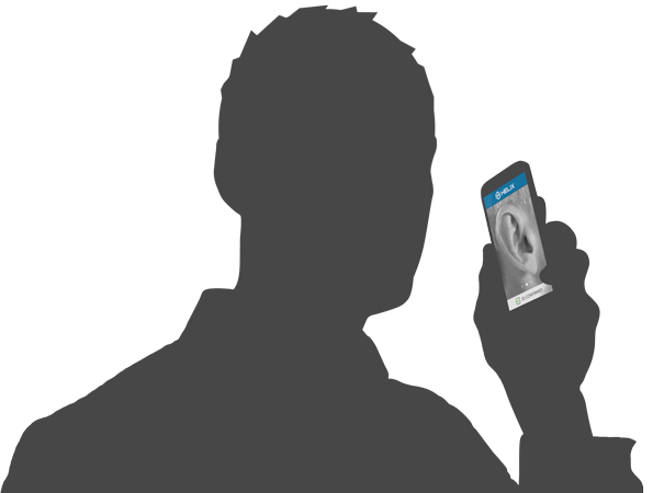 User demonstrating Helix
