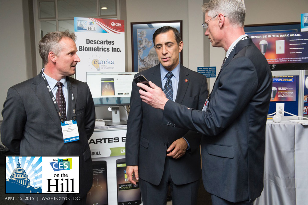 Michael Boczek with Congressman Darrell Issa at CES on the Hill 2014
